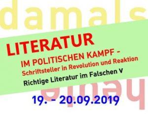 """Lange Nacht der Lesungen – """"Literatur im politischen Kampf"""""""